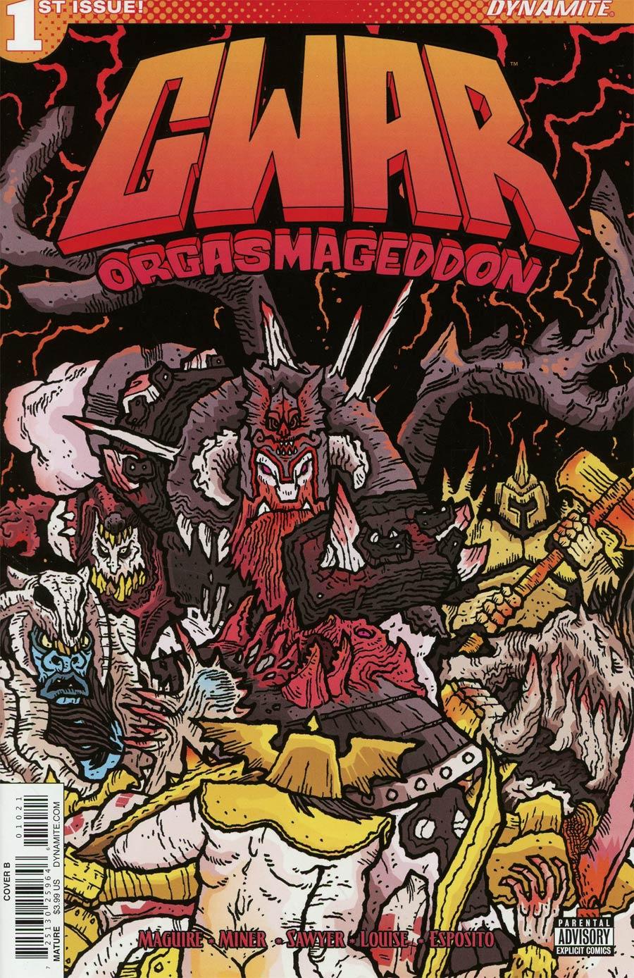 GWAR Orgasmageddon #1 Cover B Variant Scott Wygmans Cover