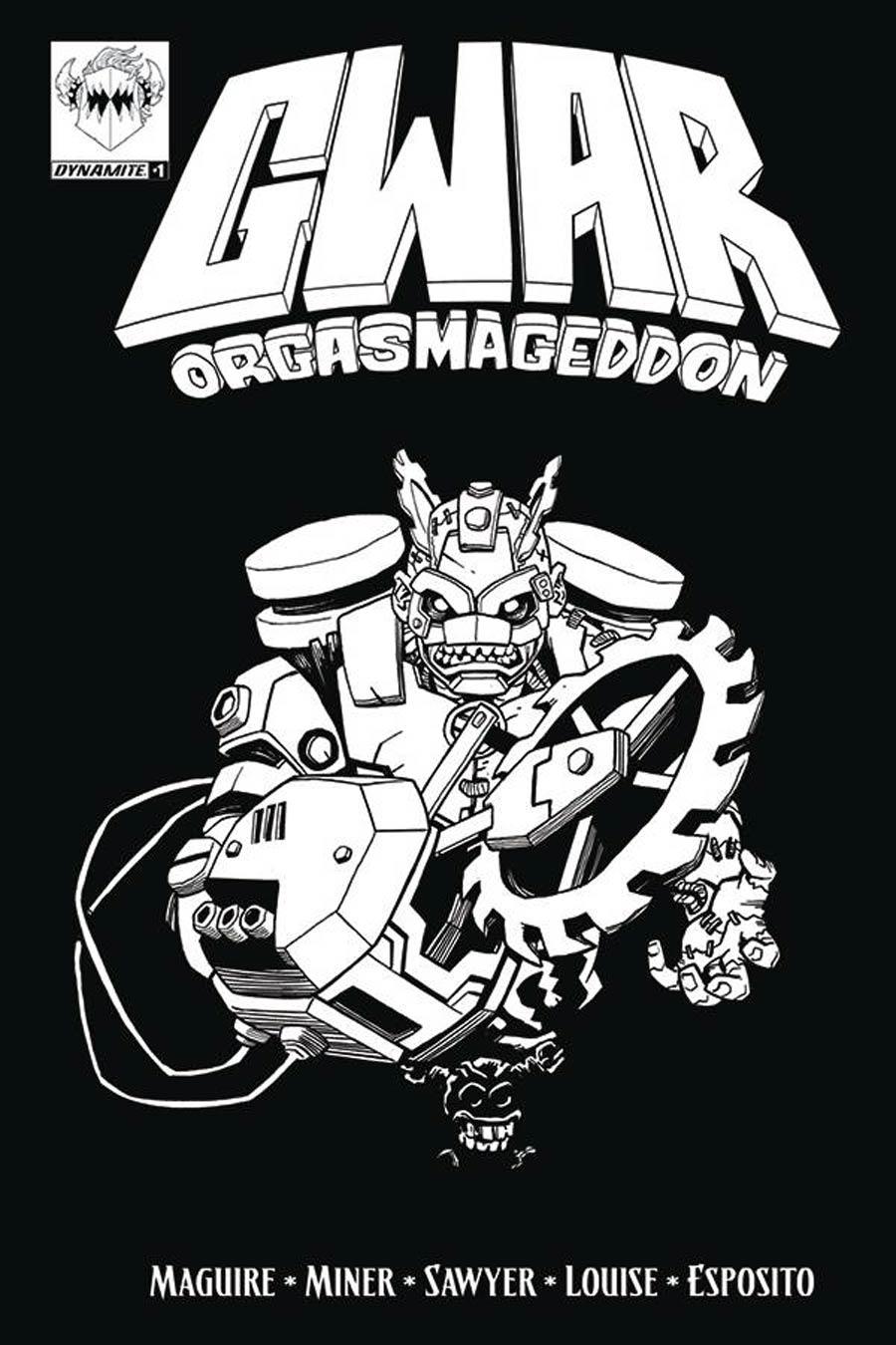 GWAR Orgasmageddon #1 Cover C Variant Coloring Book Cover