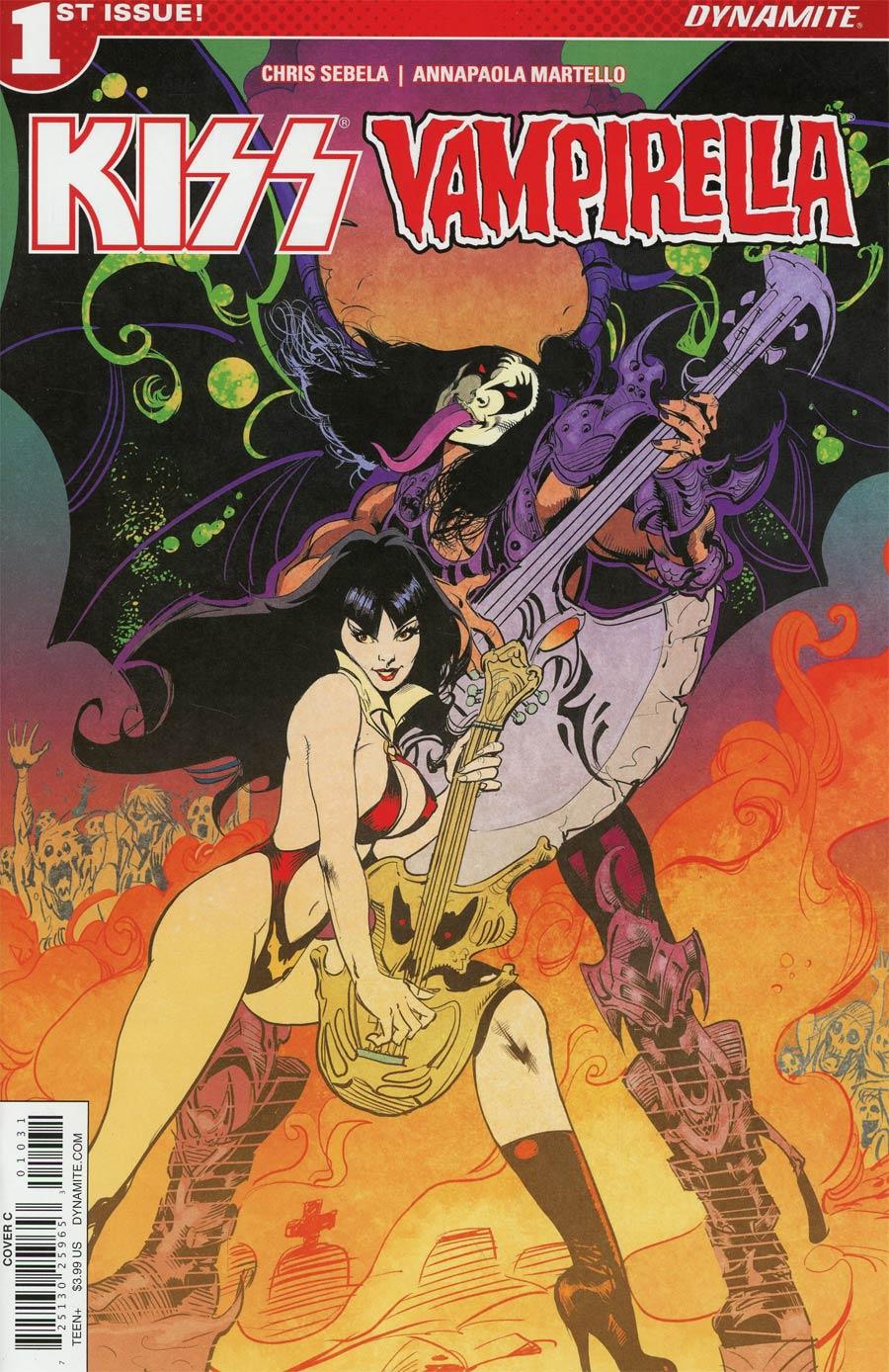 KISS Vampirella #1 Cover C Variant Roberto Castro Cover