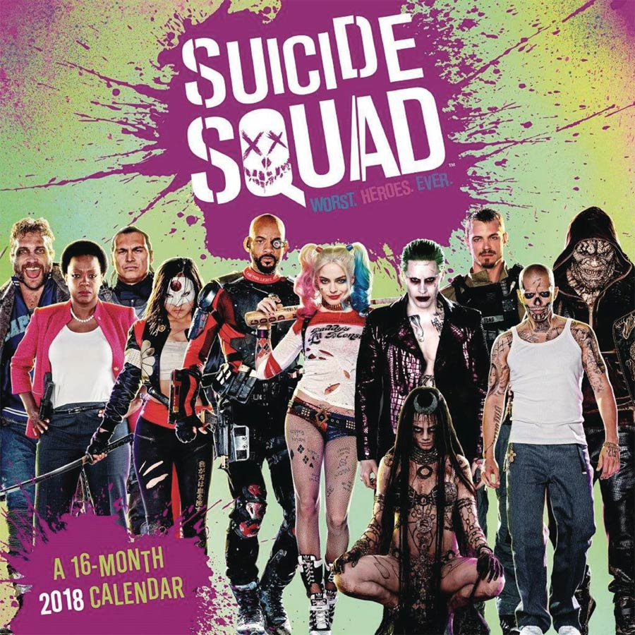 Suicide Squad 2018 12x12-inch Wall Calendar