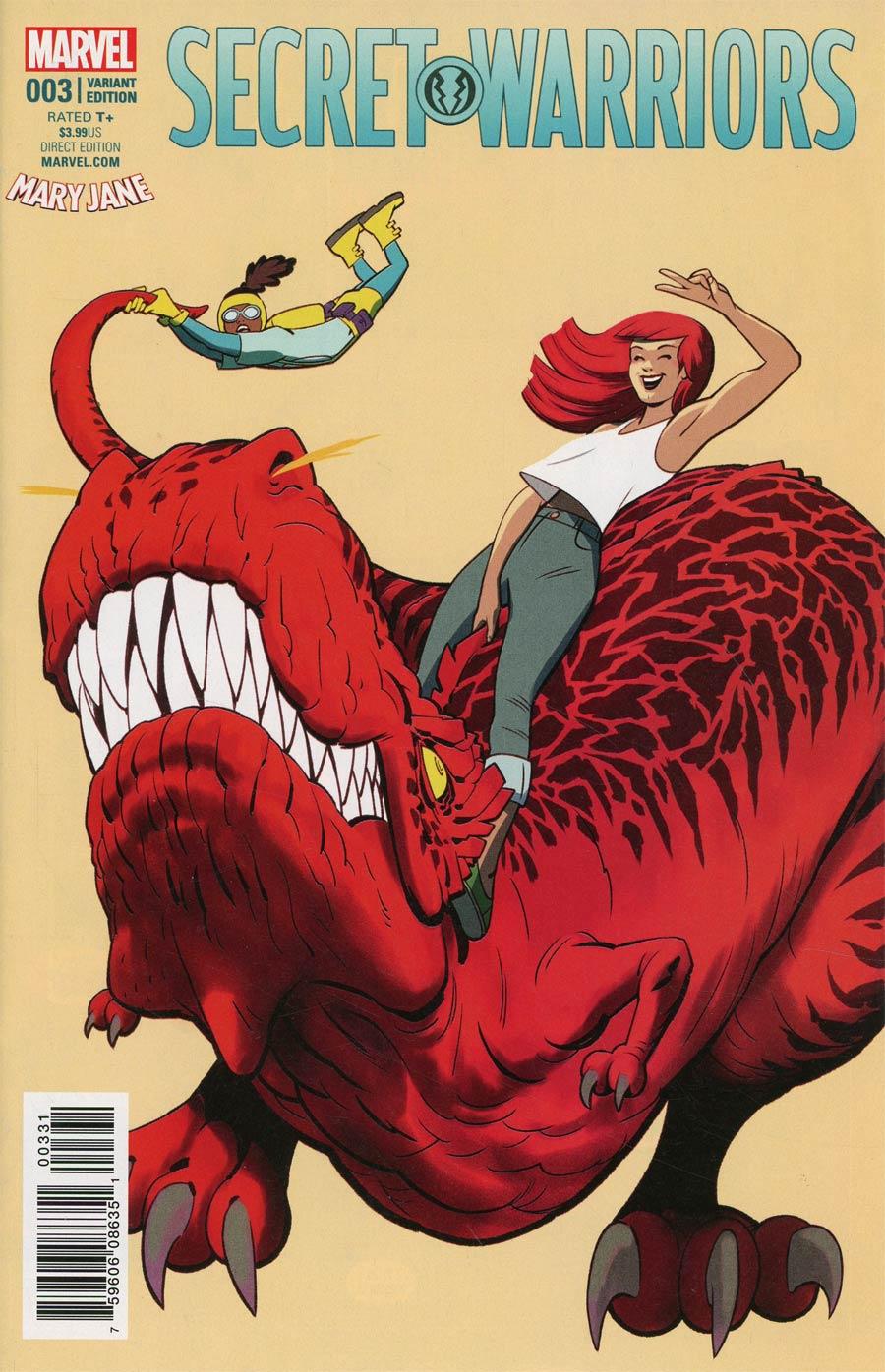 Secret Warriors Vol 2 #3 Cover B Variant Javier Rodriquez Mary Jane Cover (Secret Empire Tie-In)