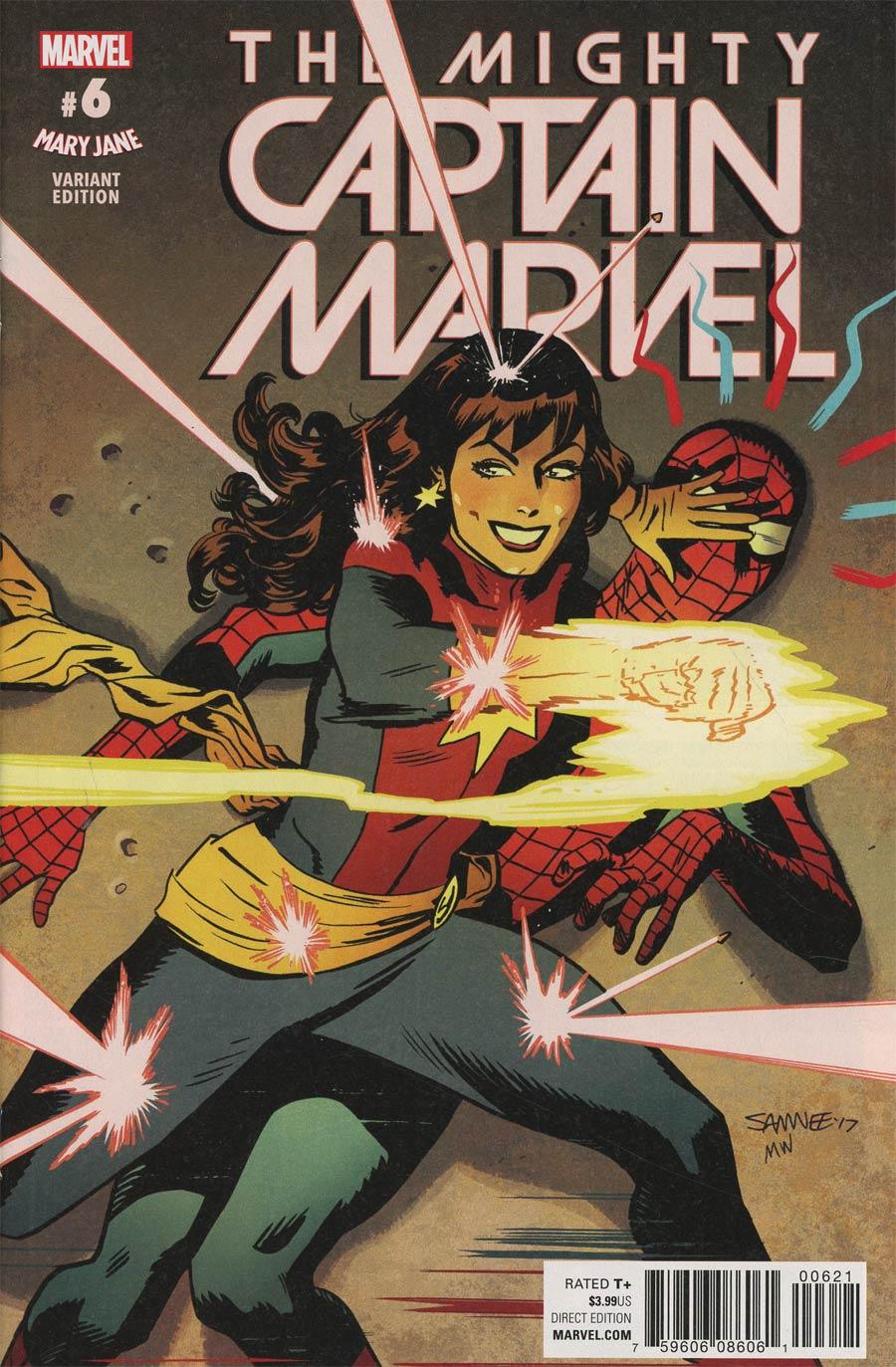 Mighty Captain Marvel #6 Cover B Variant Chris Samnee Mary Jane Cover (Secret Empire Tie-In)