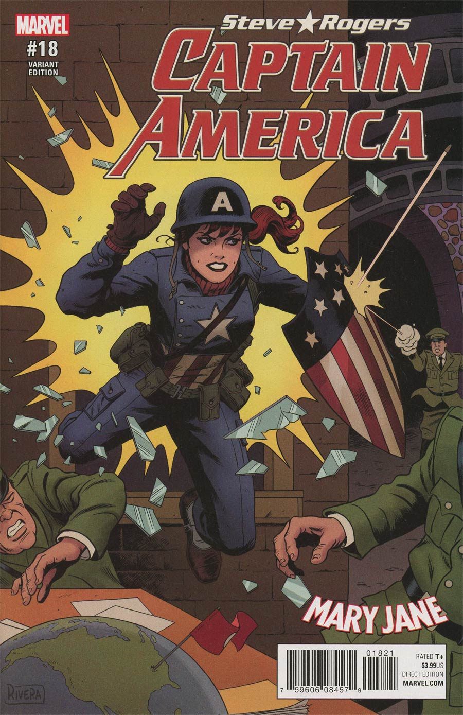 Captain America Steve Rogers #18 Cover B Variant Paolo Rivera Mary Jane Cover (Secret Empire Tie-In)