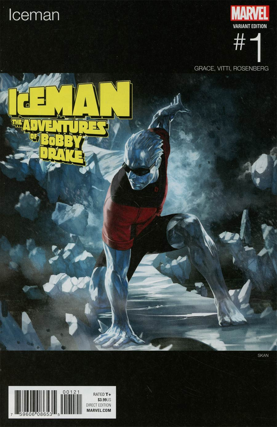 Iceman Vol 3 #1 Cover B Variant Skan Marvel Hip-Hop Cover