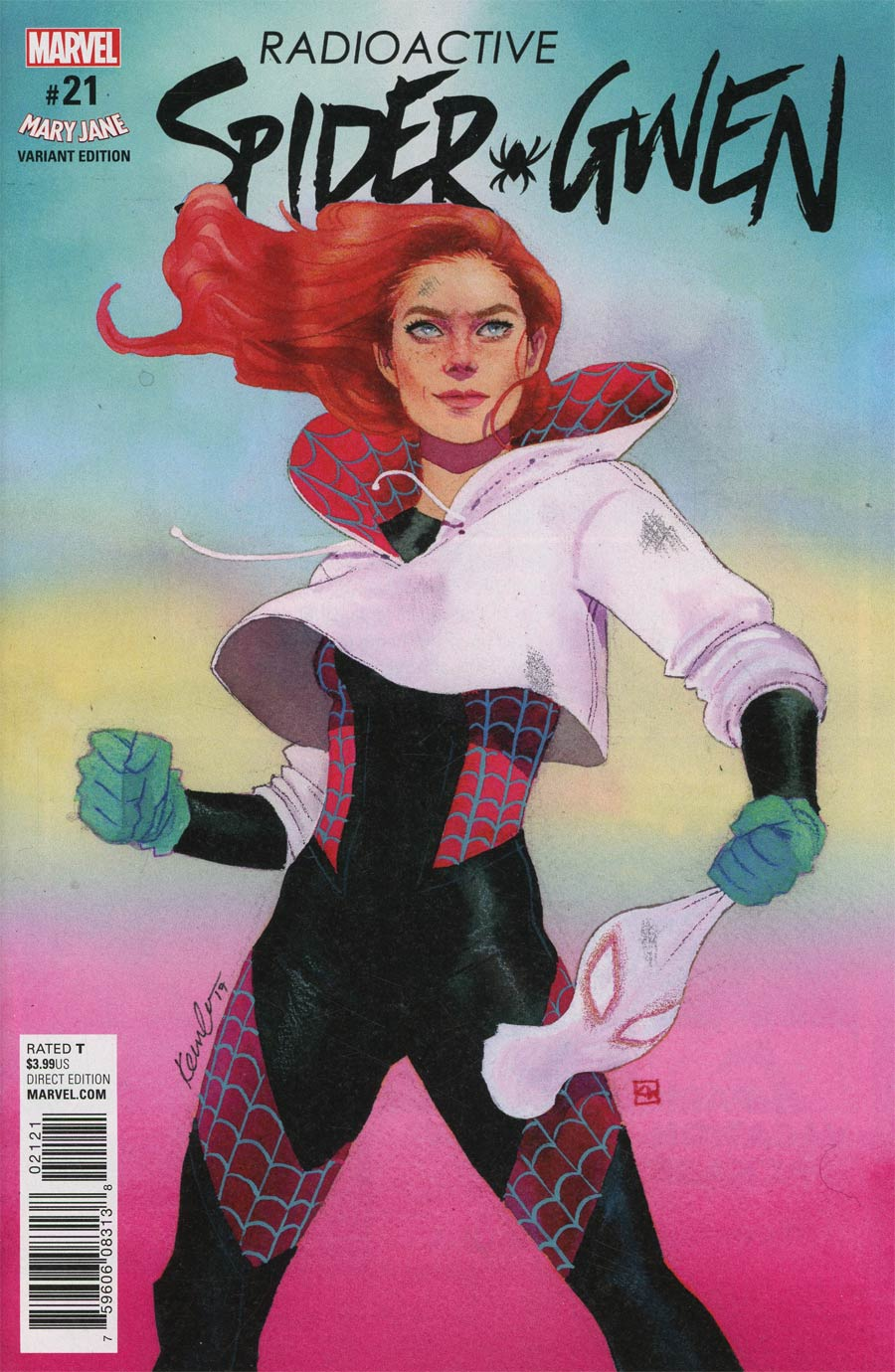 Spider-Gwen Vol 2 #21 Cover B Variant Kevin Wada Mary Jane Cover