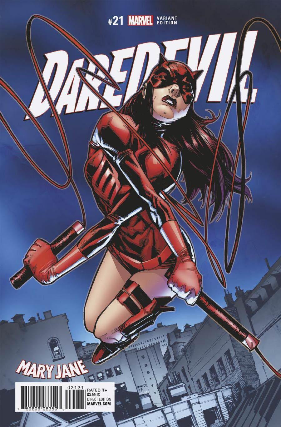 Daredevil Vol 5 #21 Cover B Variant Humberto Ramos Mary Jane Cover