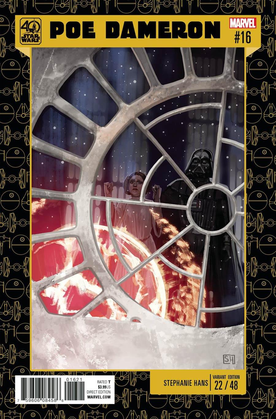 Star Wars Poe Dameron #16 Cover B Variant Stephanie Hans Star Wars 40th Anniversary Cover