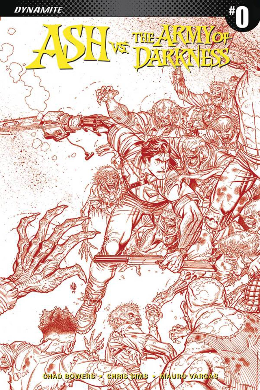 Ash vs The Army Of Darkness #0 Cover E Incentive Nick Bradshaw Blood Red Variant Cover