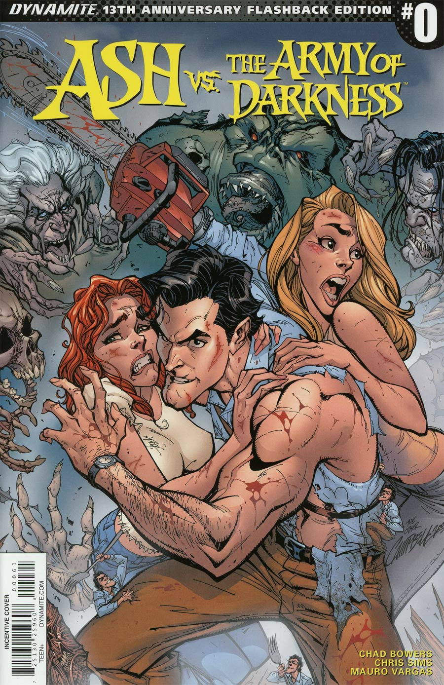 Ash vs The Army Of Darkness #0 Cover F Incentive J Scott Campbell 13th Anniversary Flashback Variant Cover