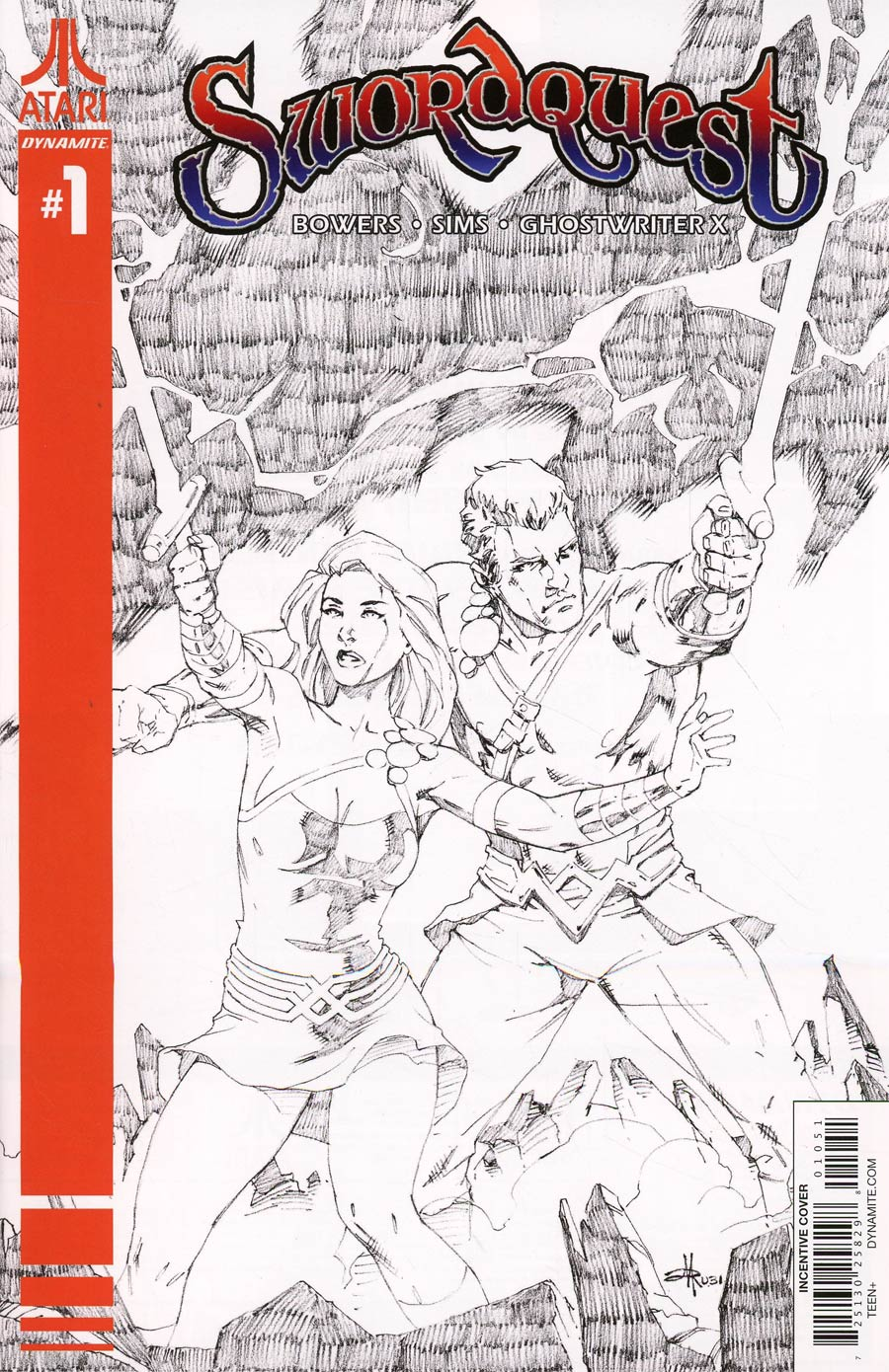 Swordquest #1 Cover E Incentive Mel Rubi Black & White Cover
