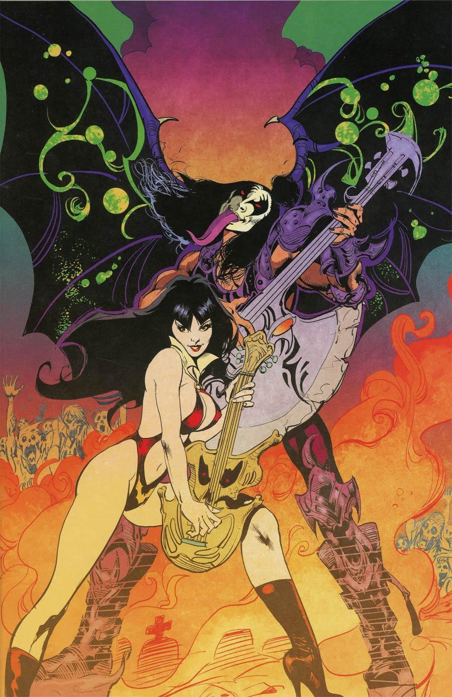 KISS Vampirella #1 Cover H Incentive Roberto Castro Virgin Cover