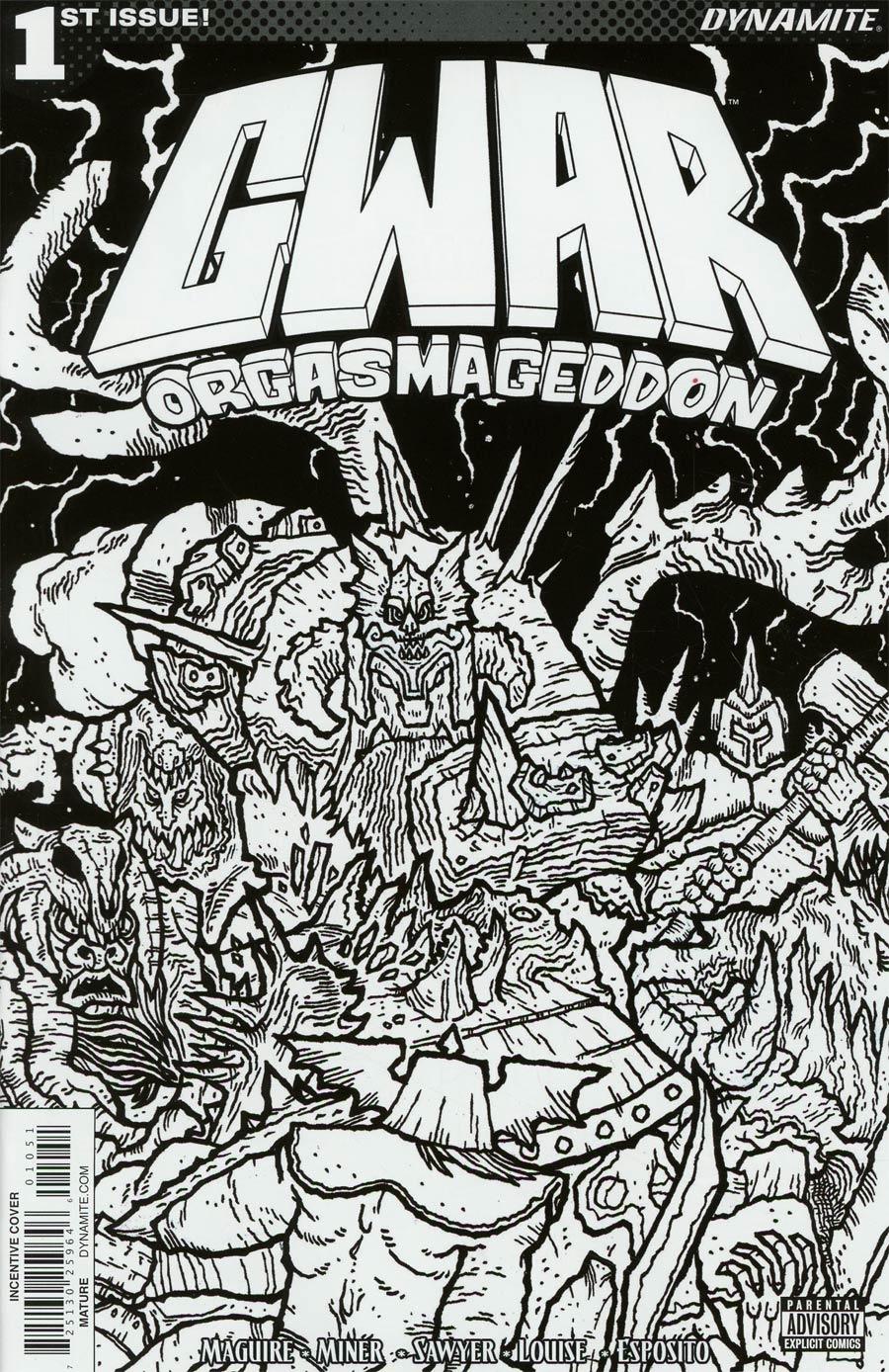 GWAR Orgasmageddon #1 Cover E Incentive Scott Wygmans Black & White Cover