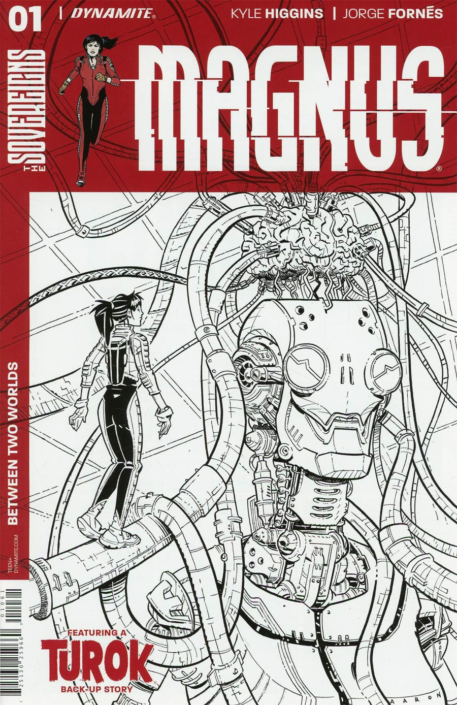 Magnus #1 Cover F Incentive Aaron Conley Black & White Cover