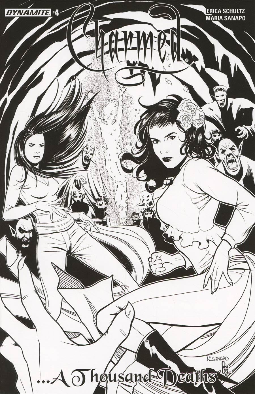 Charmed Vol 2 #4 Cover D Incentive Maria Sanapo Black & White Cover
