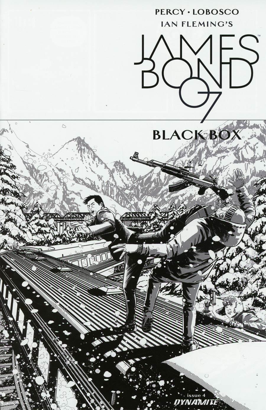James Bond Vol 2 #4 Cover D Incentive Jason Masters Black & White Cover