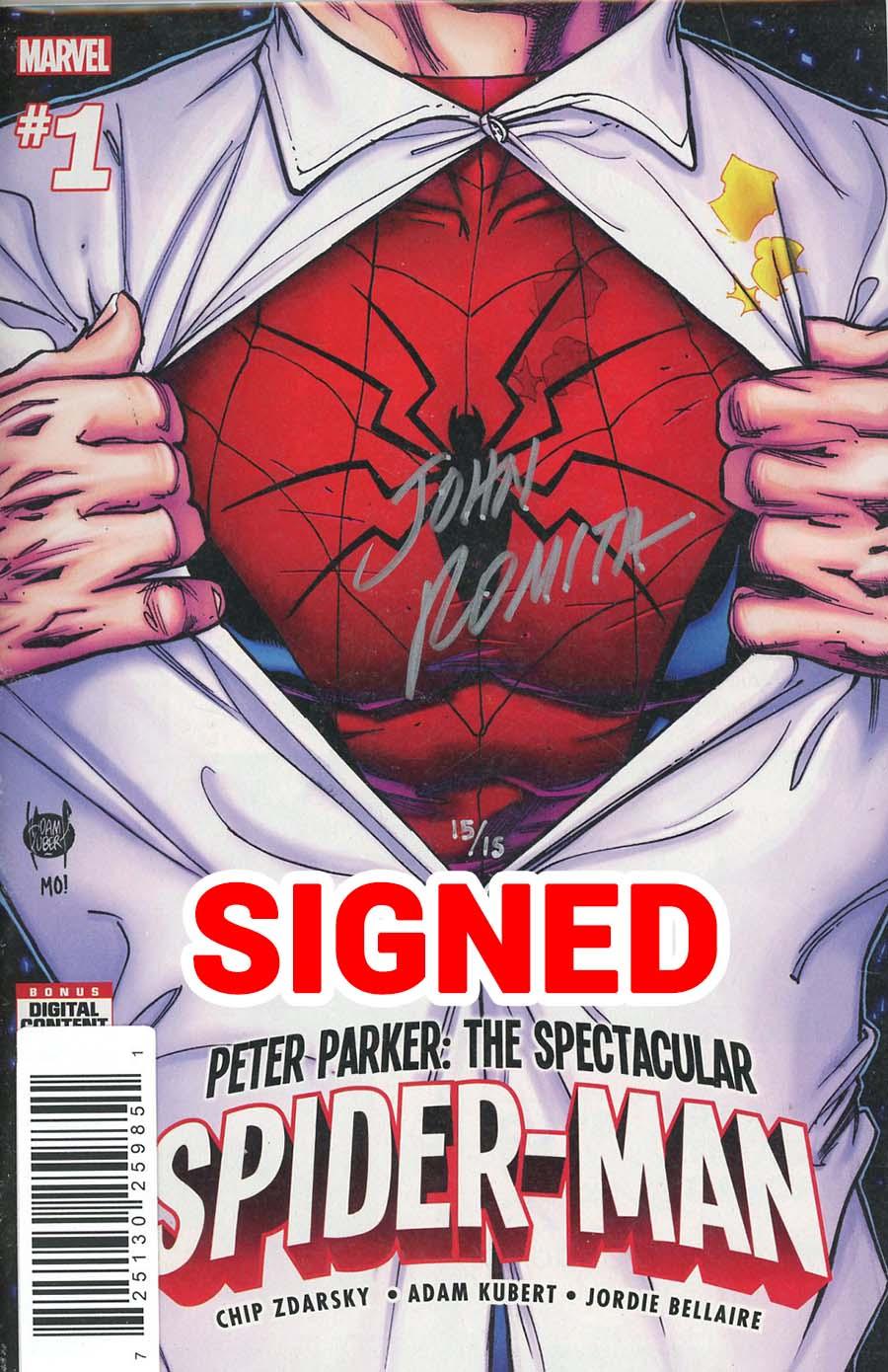 Peter Parker Spectacular Spider-Man #1 Cover L DF Signed By John Romita Sr
