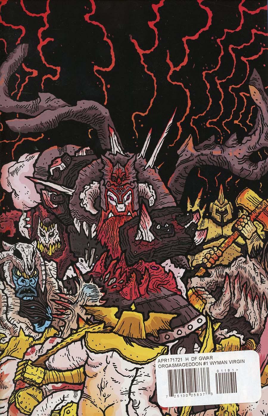 GWAR Orgasmageddon #1 Cover H DF Exclusive Scott Wygmans Virgin Cover
