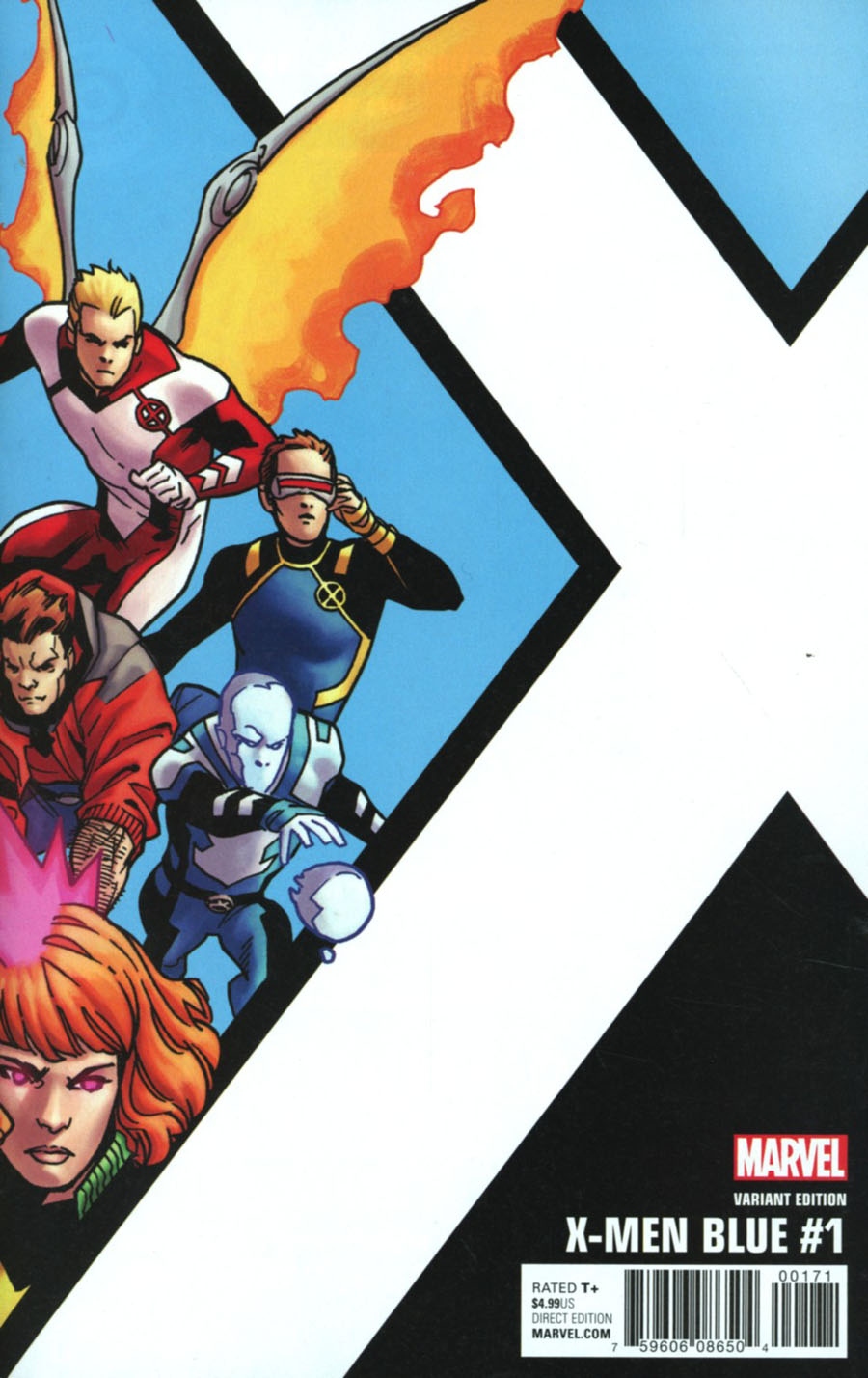 X-Men Blue #1 Cover E Incentive Leonard Kirk Corner Box Variant Cover (Resurrxion Tie-In)