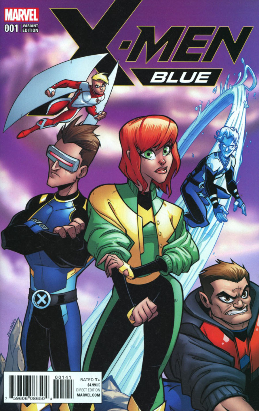 X-Men Blue #1 Cover G Incentive Bill Martin Variant Cover (Resurrxion Tie-In)