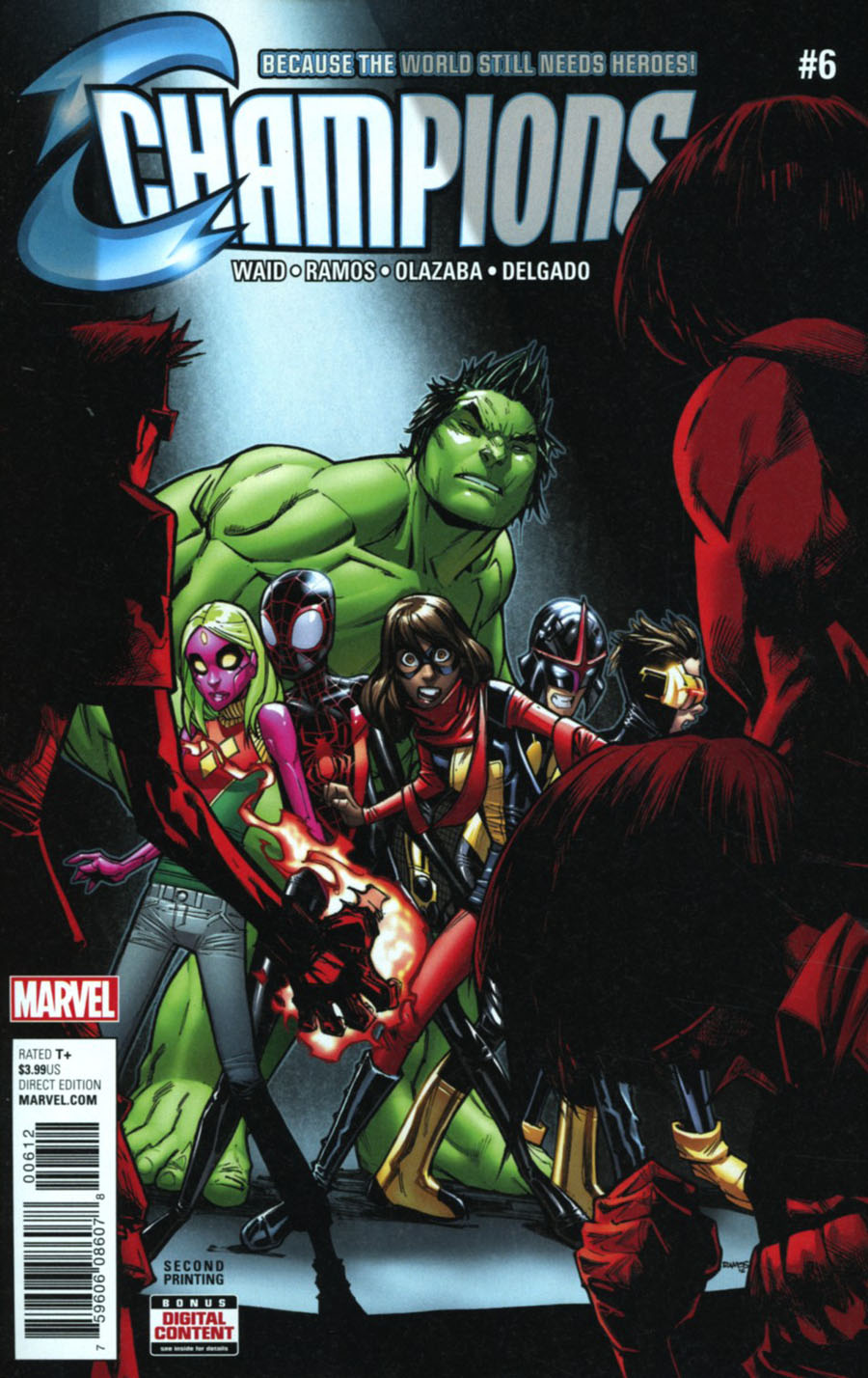 Champions (Marvel) Vol 2 #6 Cover C 2nd Ptg Humberto Ramos Variant Cover