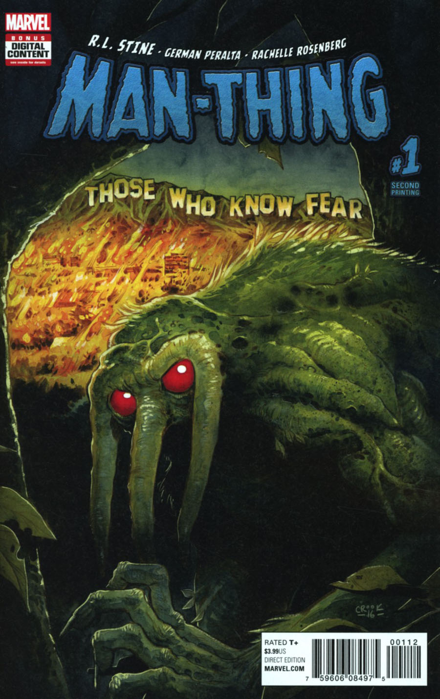 Man-Thing Vol 5 #1 Cover G 2nd Ptg Tyler Crook Variant Cover