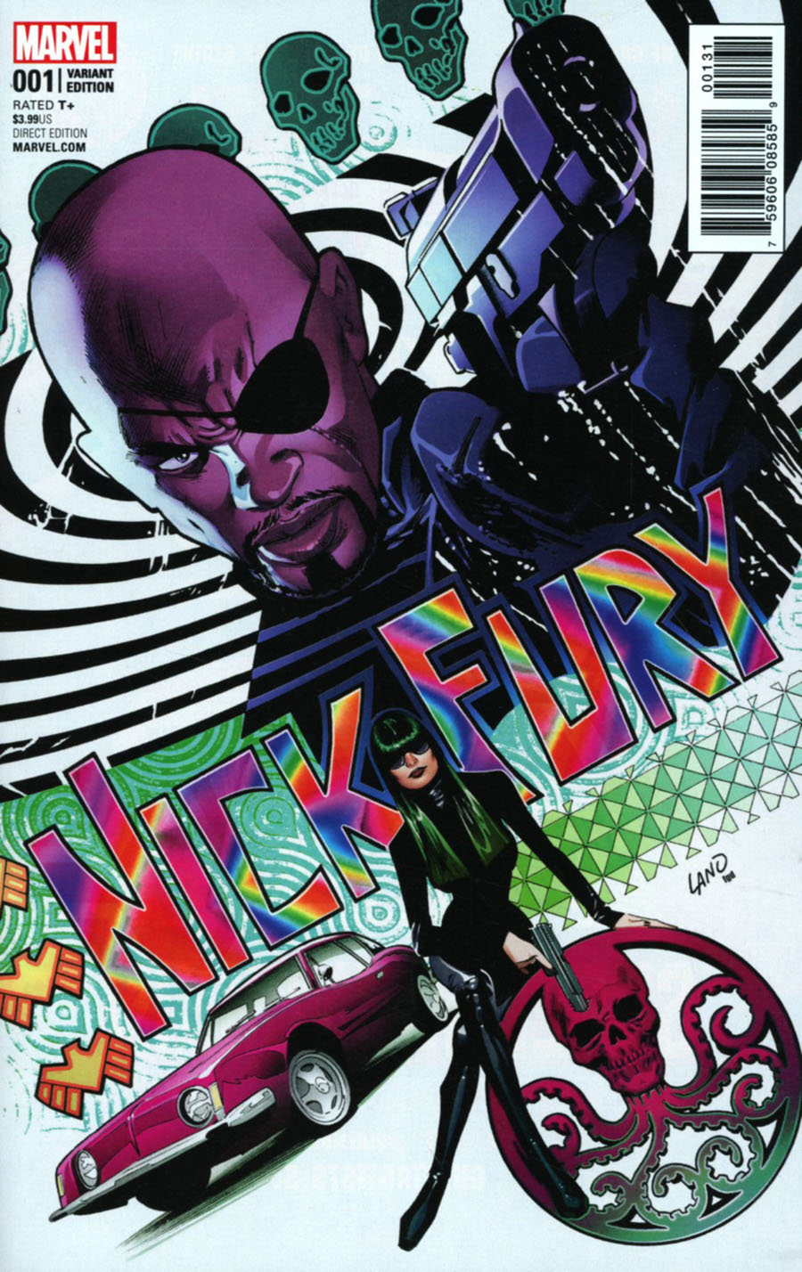 Nick Fury #1 Cover E Incentive Greg Land Variant Cover