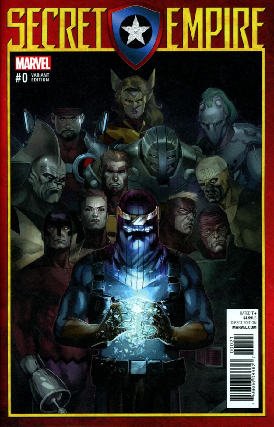 Secret Empire #0 Cover D Incentive Rod Reis Variant Cover