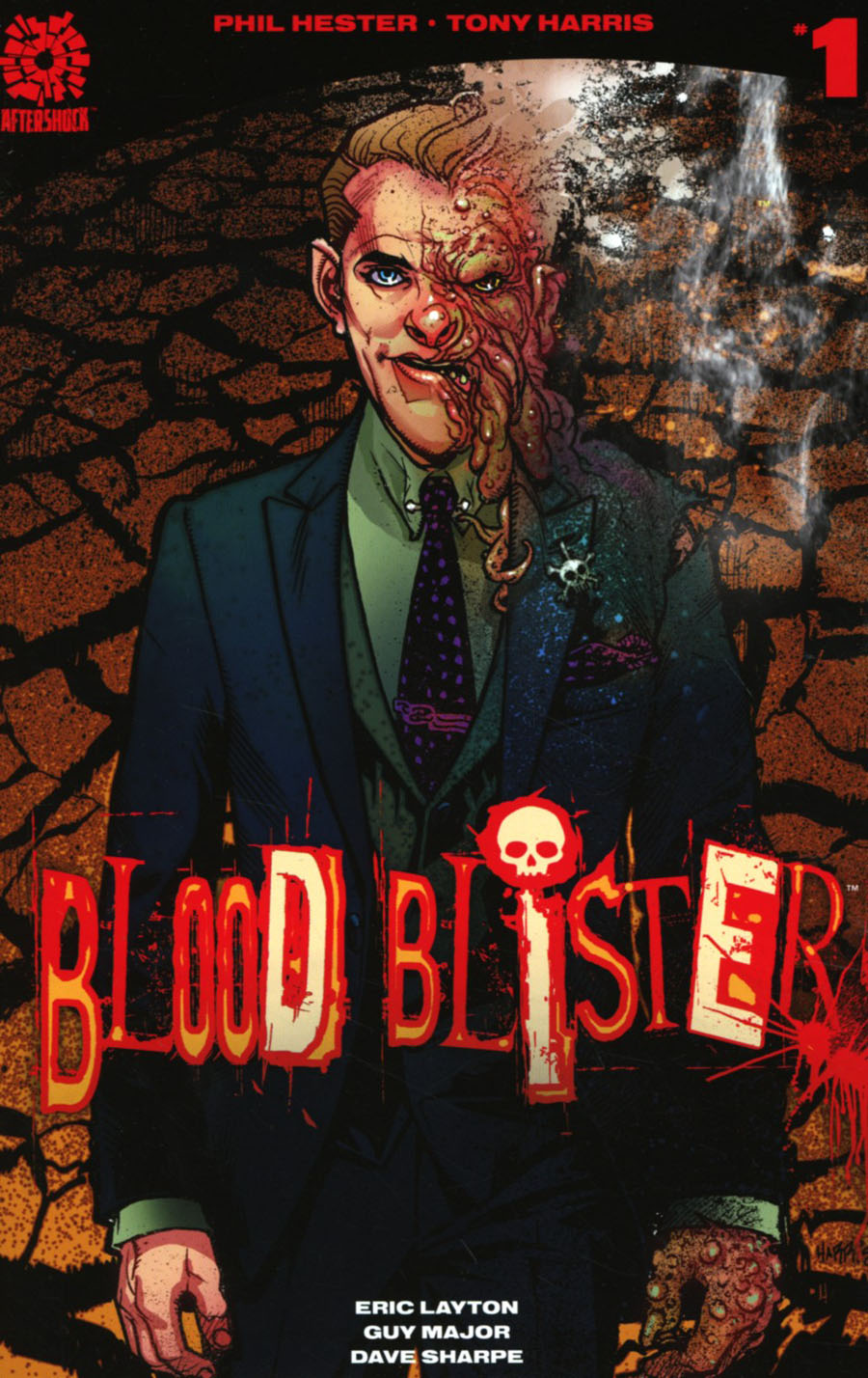 Blood Blister #1 Cover C 2nd Ptg Tony Harris Variant Cover