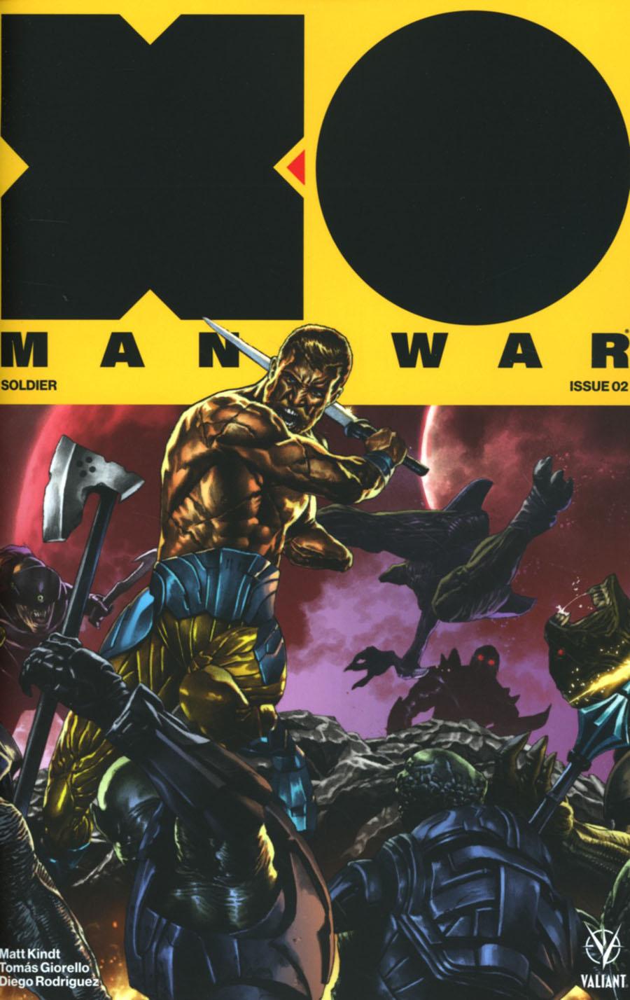 X-O Manowar Vol 4 #2 Cover E Incentive Mico Suayan Interlocking Variant Cover