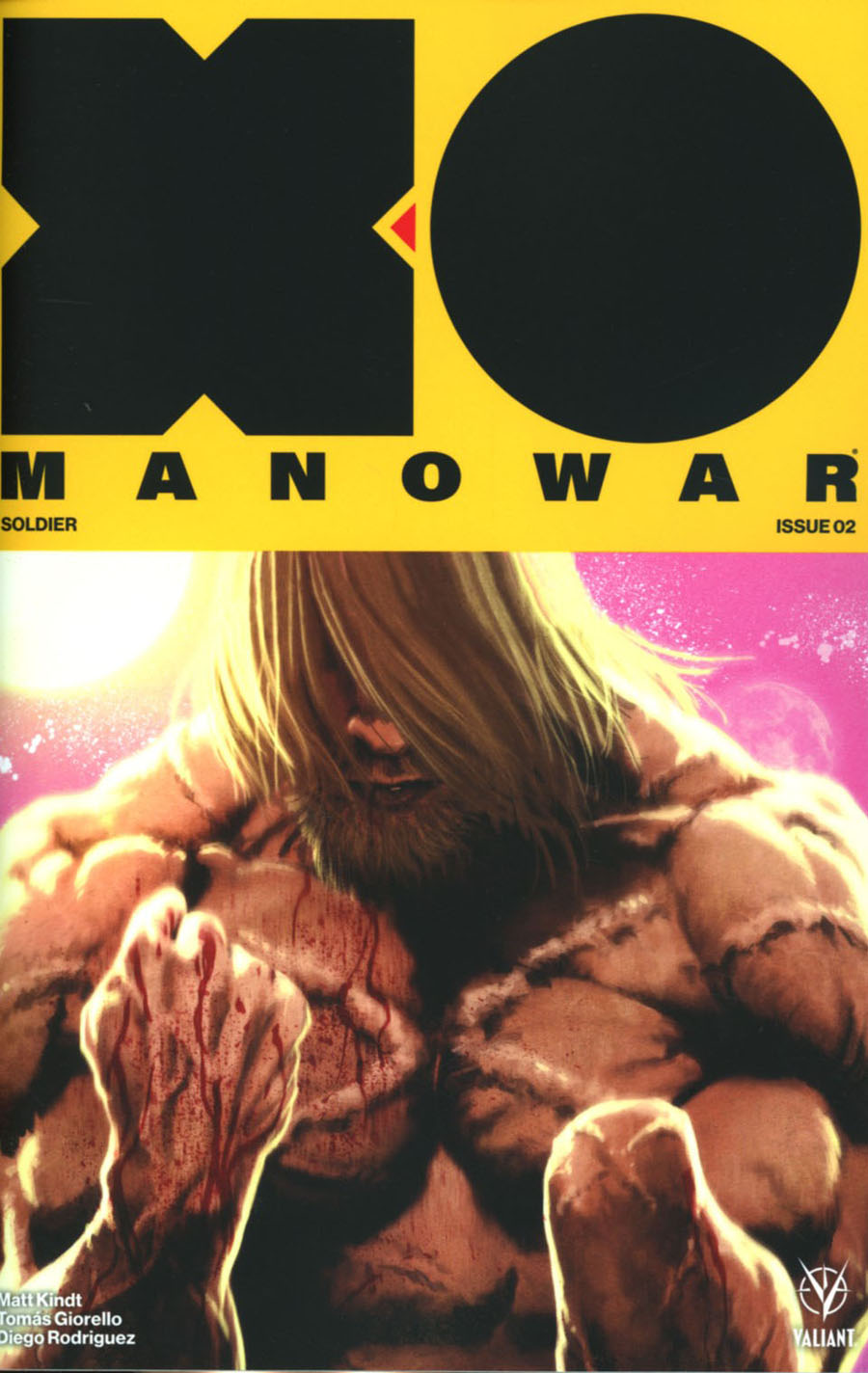 X-O Manowar Vol 4 #2 Cover F Incentive Kaare Andrews X-O Manowar Icon Variant Cover