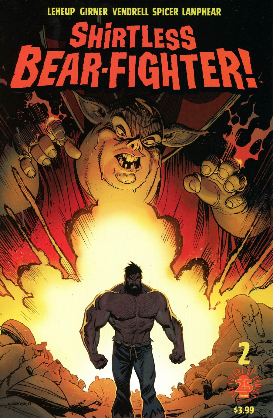 Shirtless Bear-Fighter #2 Cover A 1st Ptg Regular Andrew Robinson Cover
