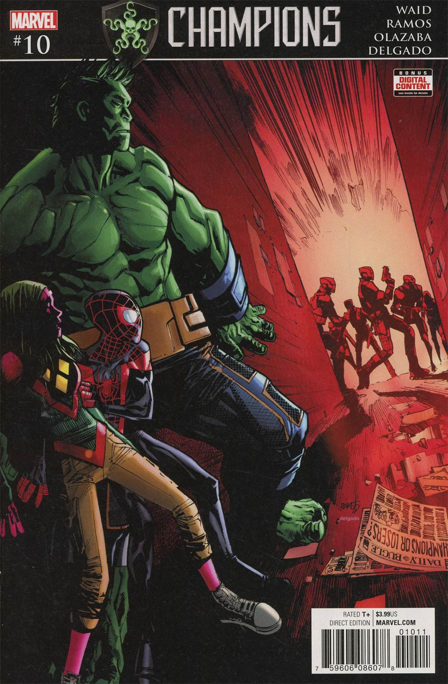 Champions (Marvel) Vol 2 #10 Cover A Regular Humberto Ramos Cover (Secret Empire Tie-In)