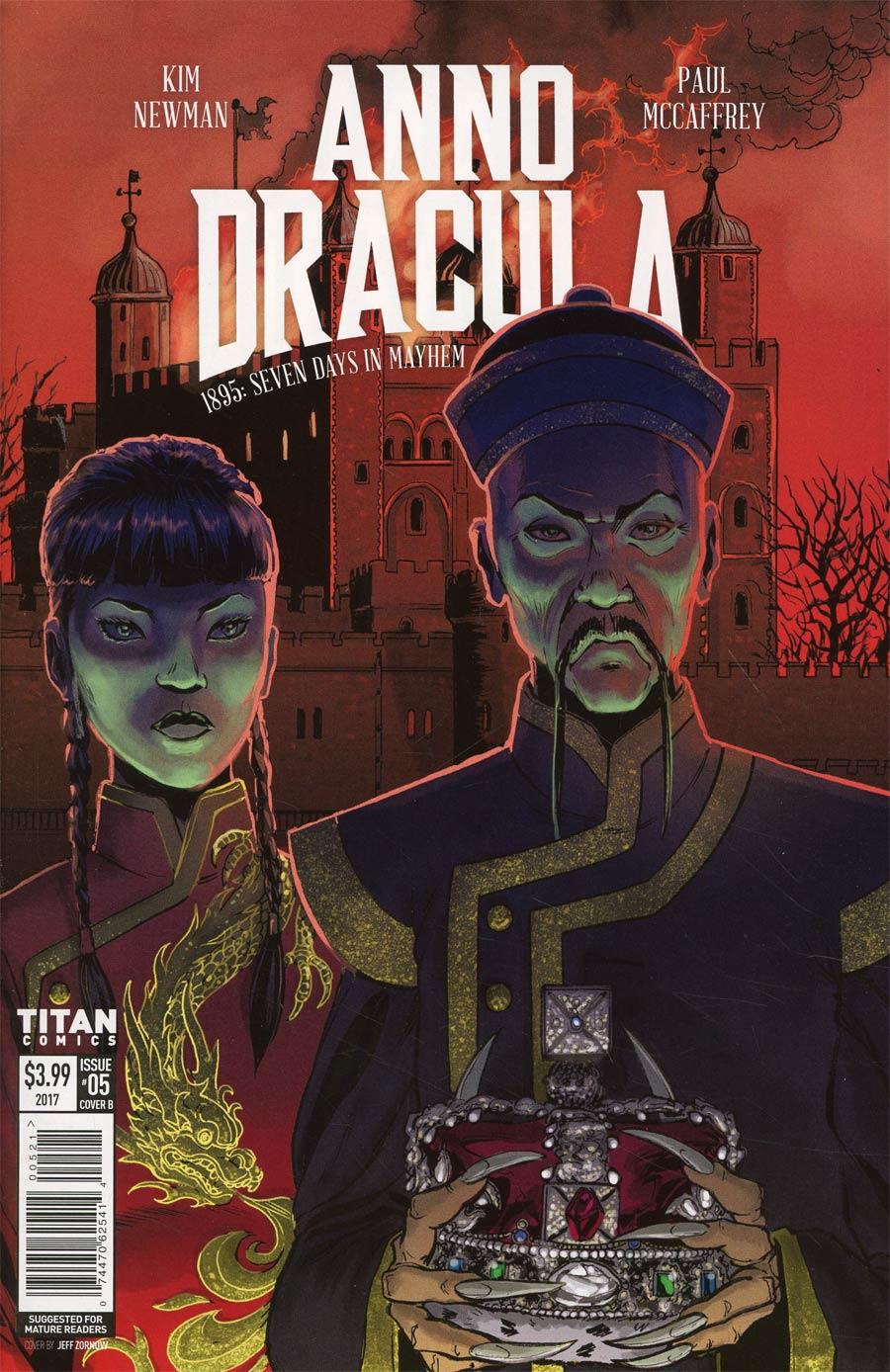 Anno Dracula #5 Cover B Variant Jeff Zornow Cover