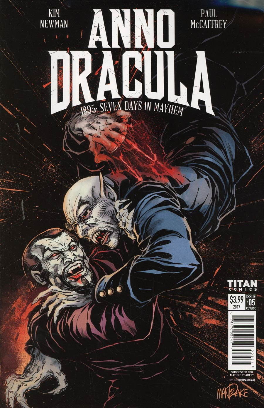 Anno Dracula #5 Cover C Variant Tom Mandrake Cover