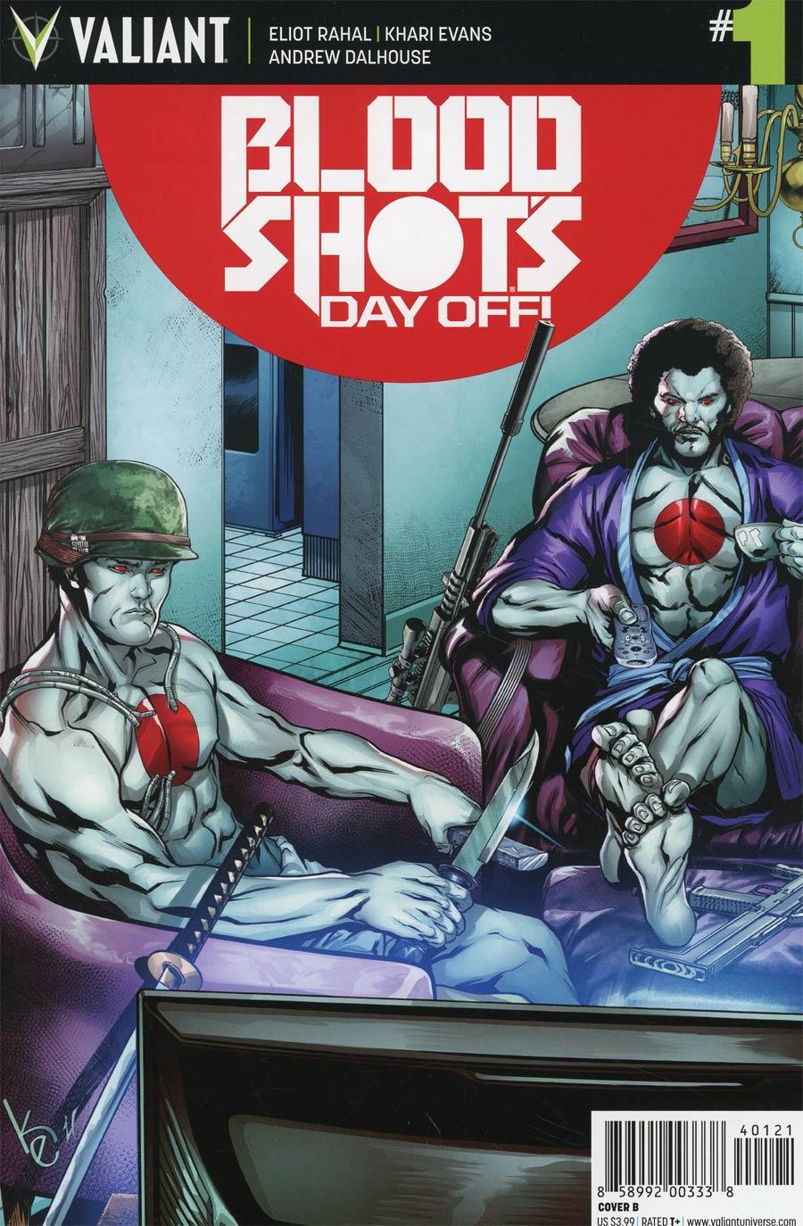 Bloodshots Day Off #1 Cover B Variant Khari Evans Cover