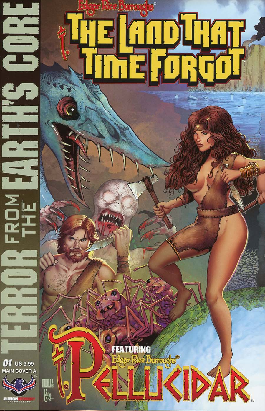 Edgar Rice Burroughs Land That Time Forgot Terror From The Earths Core #1 Cover A Regular Mike Wolfer Connecting Cover