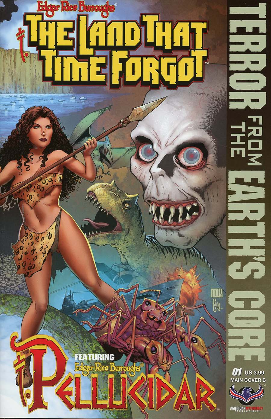 Edgar Rice Burroughs Land That Time Forgot Terror From The Earths Core #1 Cover B Variant Mike Wolfer Connecting Cover