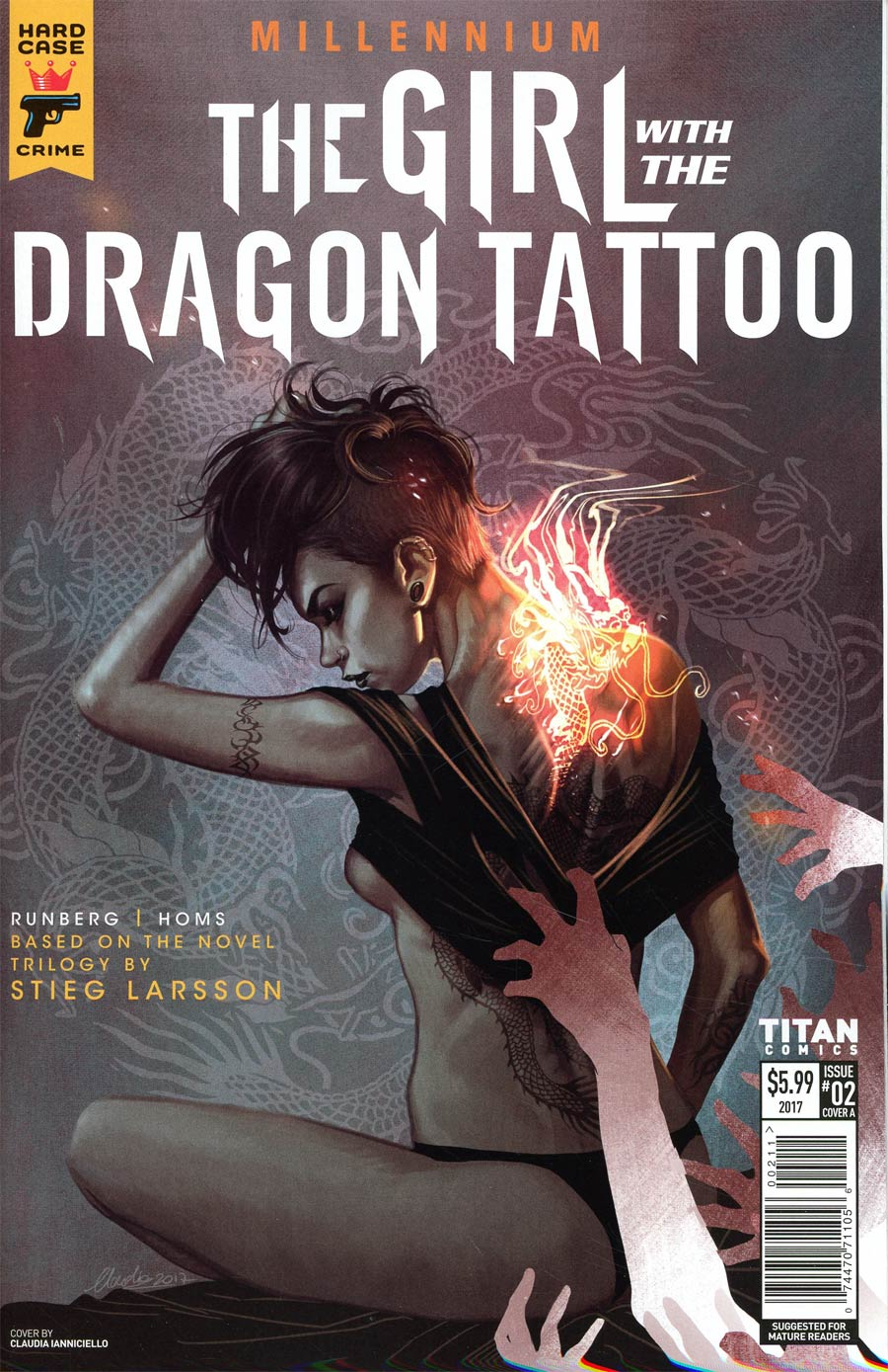 Hard Case Crime Millennium Girl With The Dragon Tattoo #2 Cover A Regular Claudia Iannicello Cover