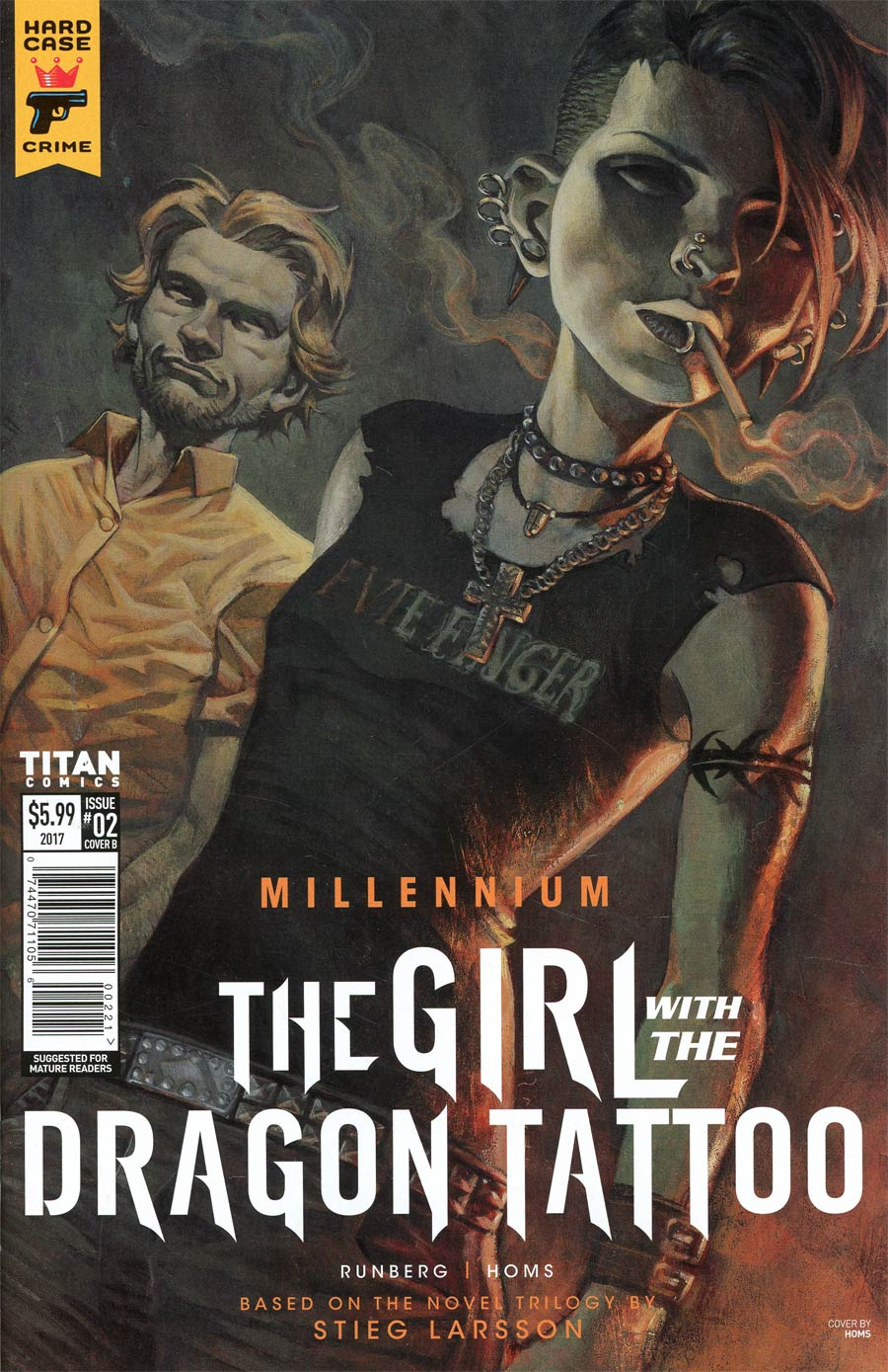 Hard Case Crime Millennium Girl With The Dragon Tattoo #2 Cover B Variant Jose Homs Cover