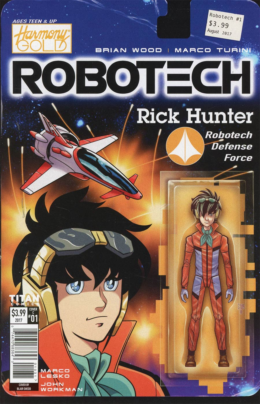 Robotech Vol 3 #1 Cover C Variant Blair Shedd Action Figure Cover