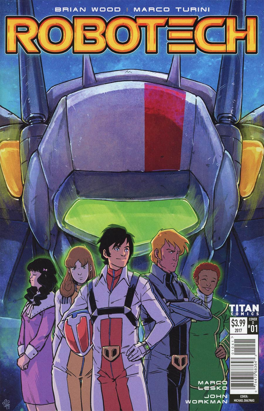 Robotech Vol 3 #1 Cover D Variant Michael Dialynas Cover