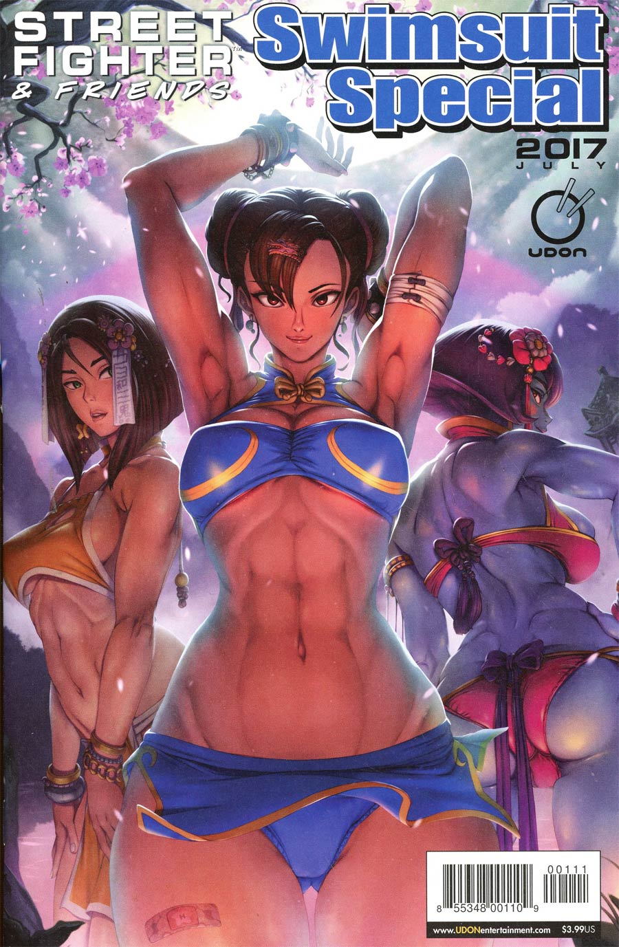 Street Fighter & Friends Swimsuit Special 2017 Cover A Regular Ecchi-Star Cover