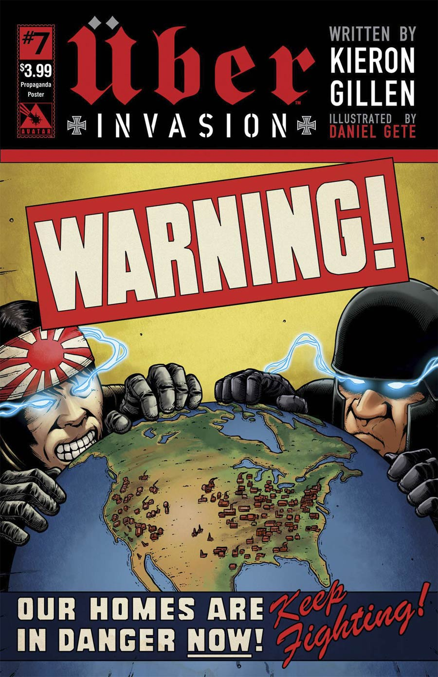 Uber Invasion #7 Cover D Propaganda Poster Cover