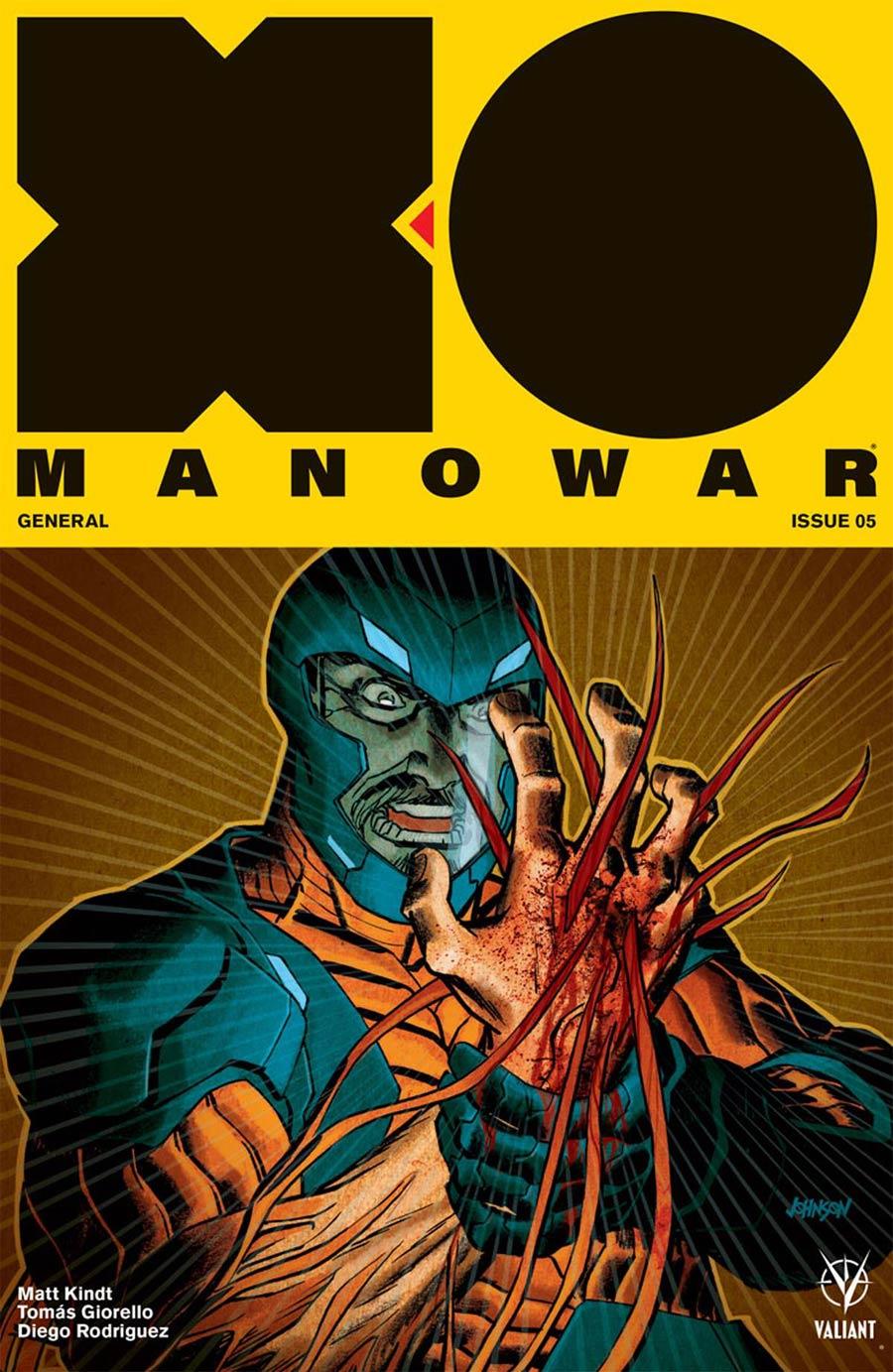 X-O Manowar Vol 4 #5 Cover B Variant Dave Johnson Cover
