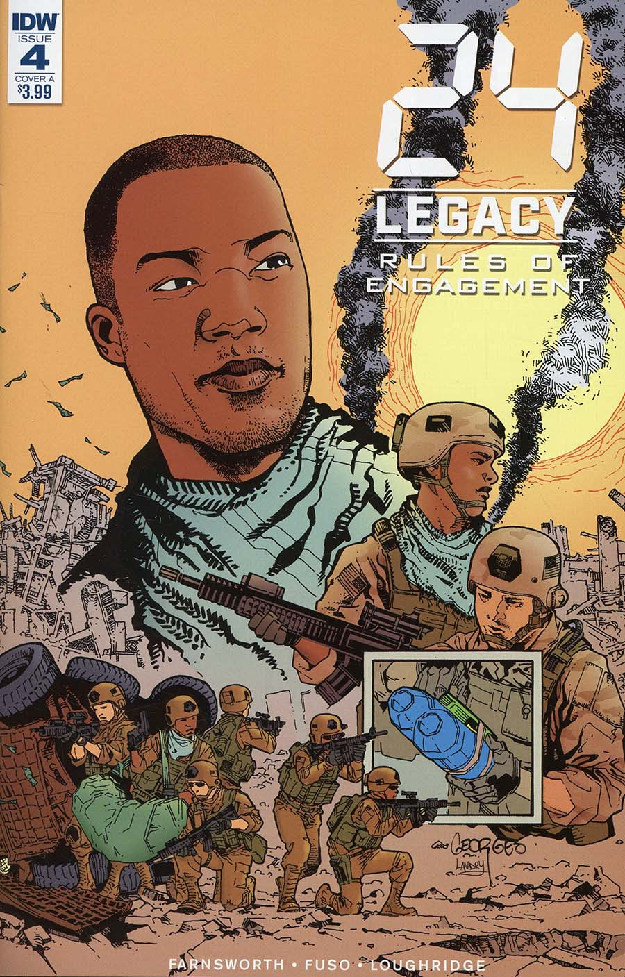 24 Legacy Rules Of Engagement #4 Cover A Regular Georges Jeanty Cover