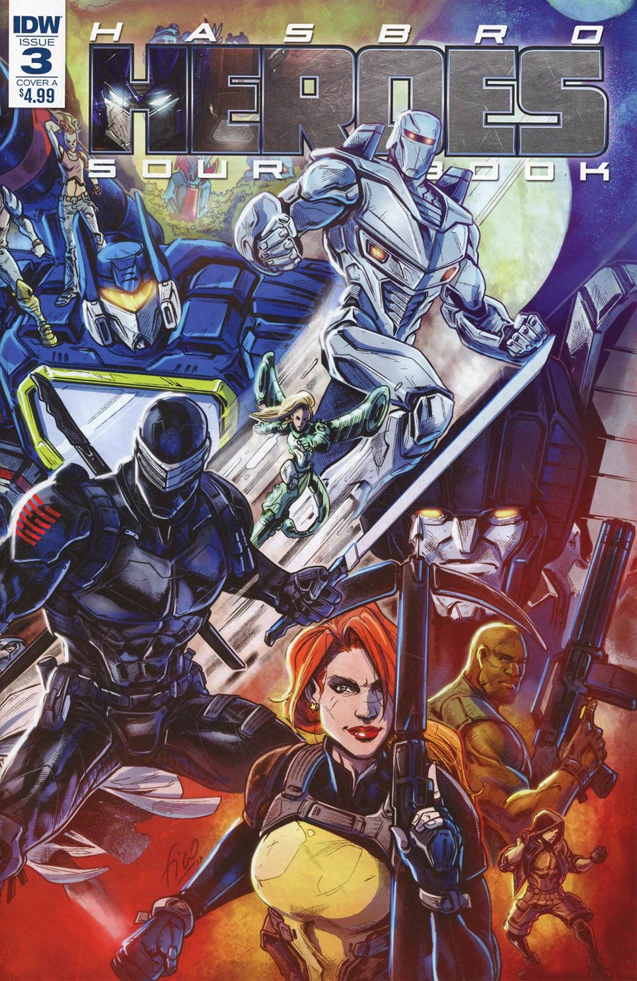 Hasbro Heroes Sourcebook #3 Cover A Regular Fico Ossio Cover
