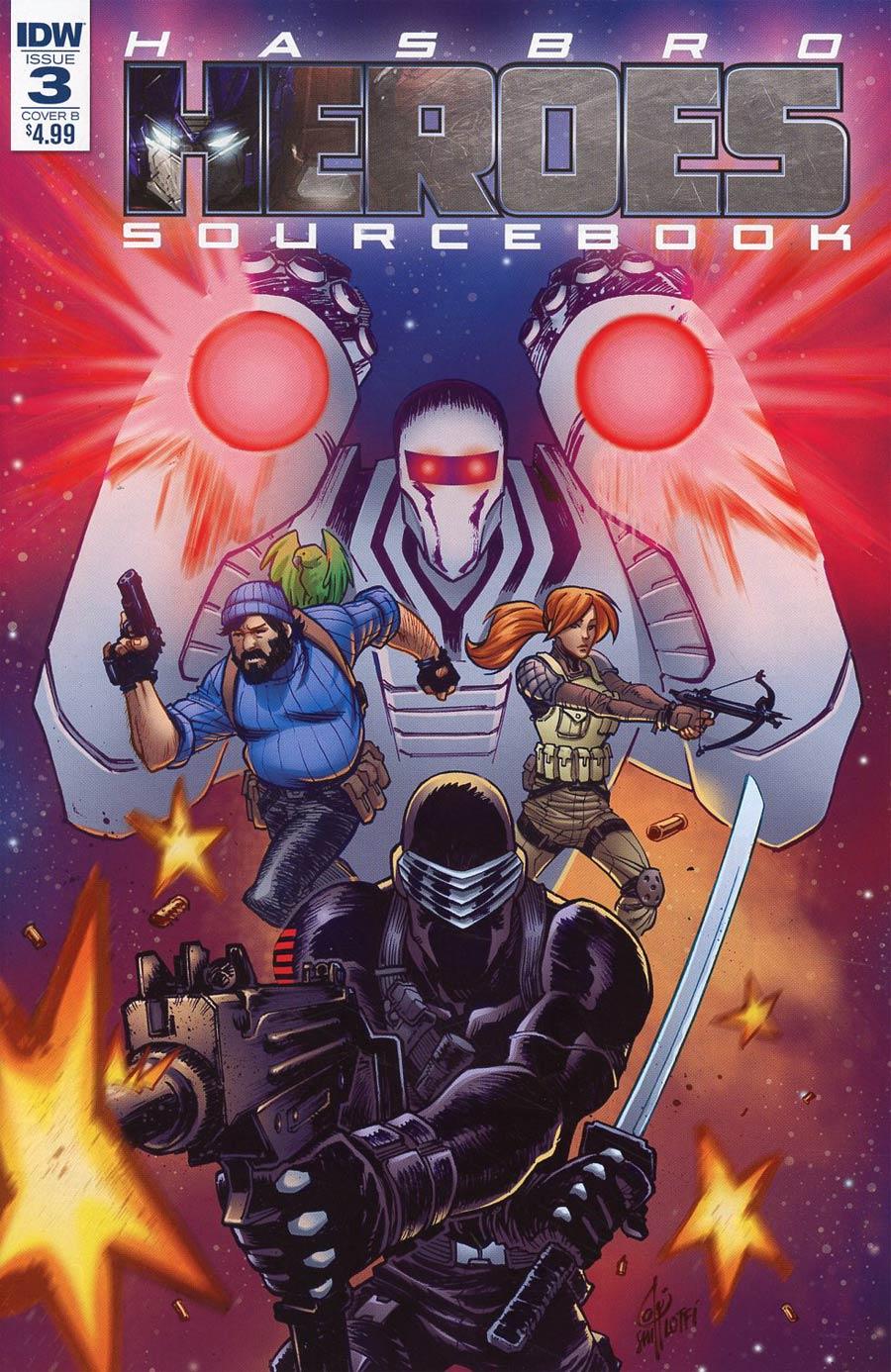 Hasbro Heroes Sourcebook #3 Cover B Variant Sam Lotfi Cover