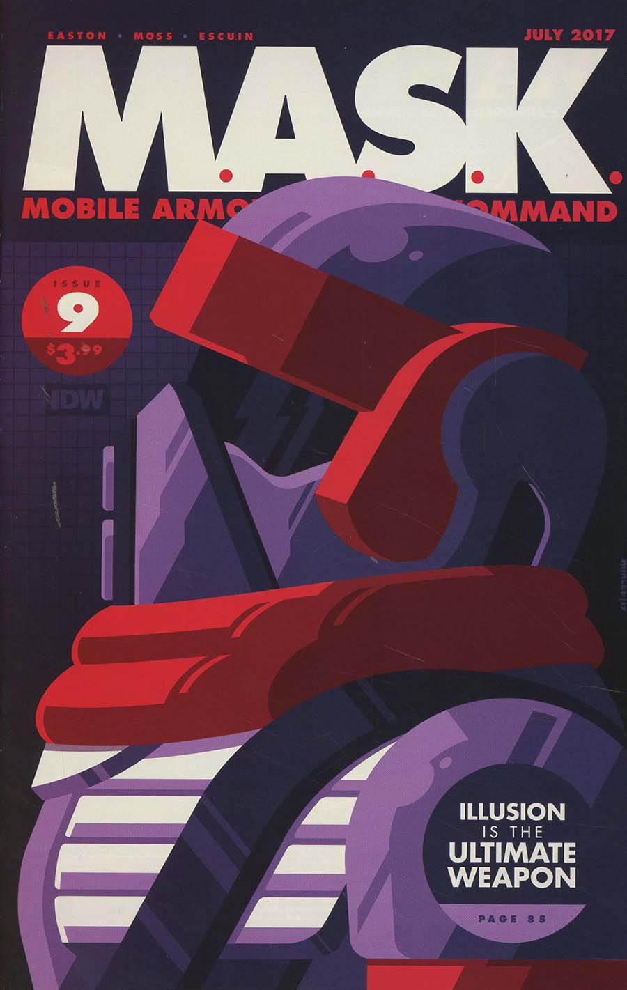 M.A.S.K. Mobile Armored Strike Kommand #9 Cover B Variant Tom Whalen Cover