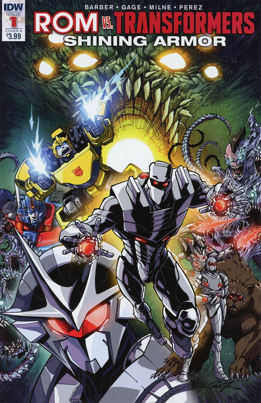 ROM vs Transformers Shining Armor #1 Cover A Regular Alex Milne Cover