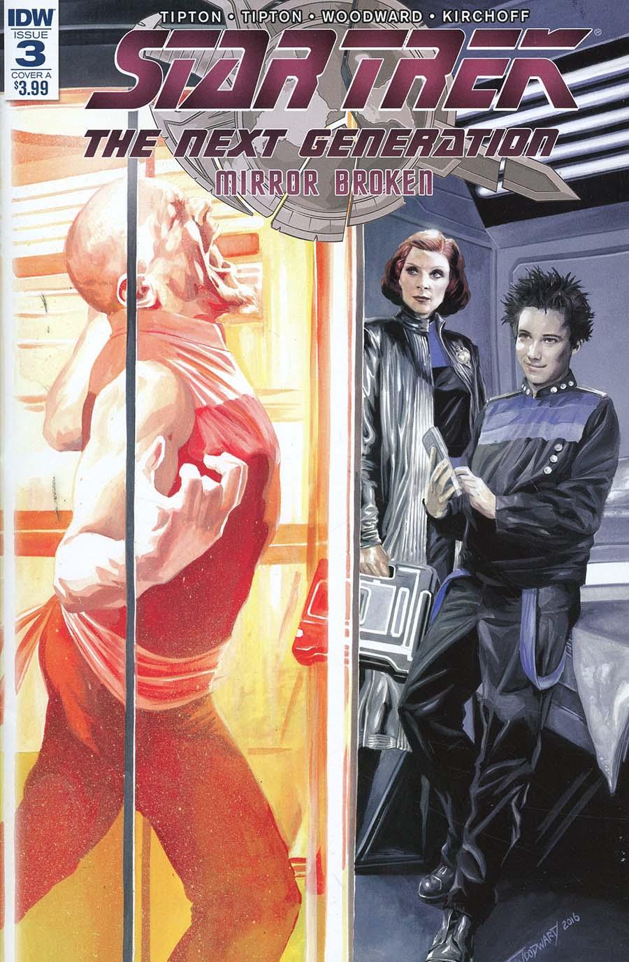 Star Trek The Next Generation Mirror Broken #3 Cover A Regular JK Woodward Cover
